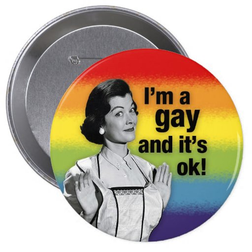 I'm GAY - Button