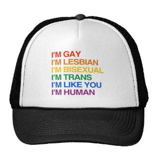 I'M GLBT I'M HUMAN.png Hats