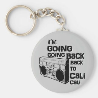 I'm Going Back To Cali-Keychain Basic Round Button Key Ring