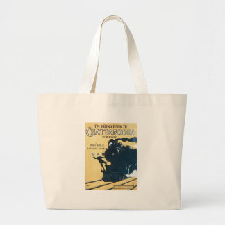 I'm Going Back to Chattanooga Tennessee Songbook C Large Tote Bag