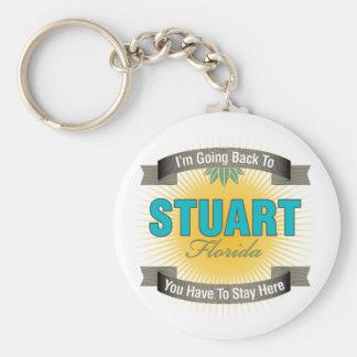 I'm Going Back To (Stuart) Basic Round Button Key Ring