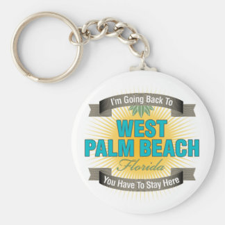 I'm Going Back To (West Palm Beach) Keychain