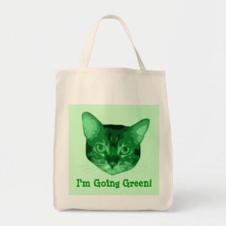 Im Going Green Kitty Organic Grocery Tote