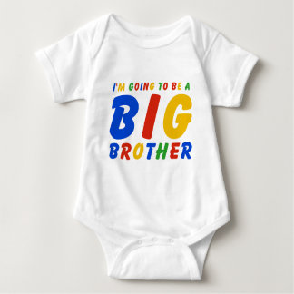 I'm Going To Be A Big Brother Baby Bodysuit
