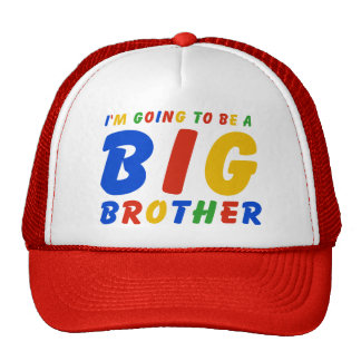 I'm Going To Be A Big Brother Cap