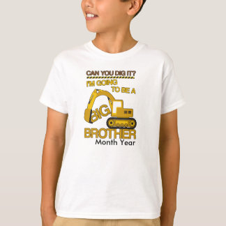 Im going To be a Big Brother Construction w/ Date T-Shirt