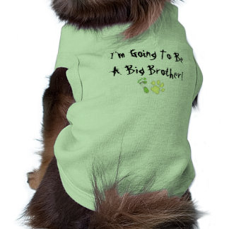 I'm Going To Be A Big Brother! Sleeveless Dog Shirt