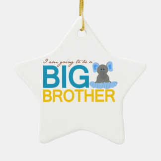 I'm Going to be a Big Brother Elephant Christmas Ornament