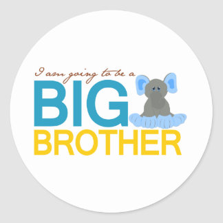 I'm Going to be a Big Brother Elephant Sticker