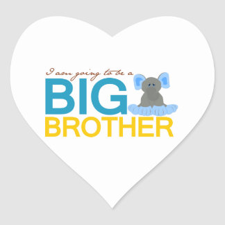 I'm Going to be a Big Brother Elephant Heart Stickers
