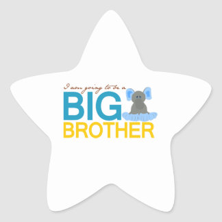 I'm Going to be a Big Brother Elephant Star Stickers