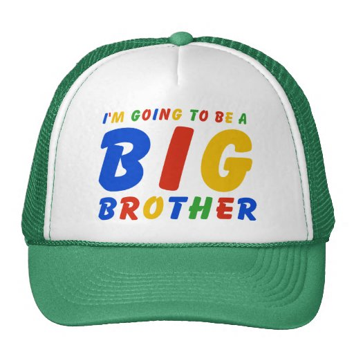 I'm Going To Be A Big Brother Mesh Hats