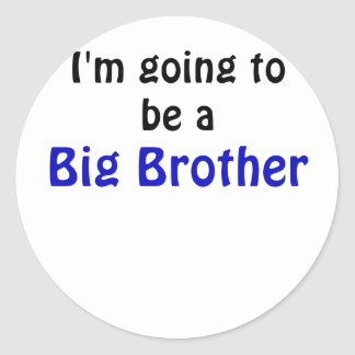 Im Going to be a Big Brother Round Sticker