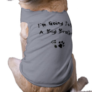 Im going to be a big brother - sleeveless dog shirt