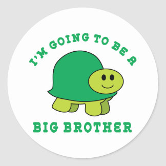 I'm Going To Be A Big Brother Classic Round Sticker
