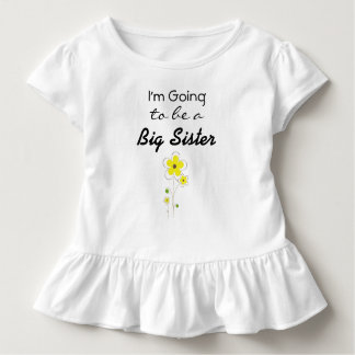 I'm going to be a Big Sister Announcement shirt