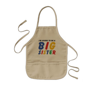 I'm Going To Be A Big Sister Aprons