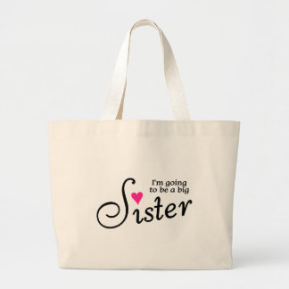 Im Going To Be A Big Sister Tote Bags