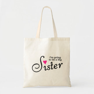 Im Going To Be A Big Sister Canvas Bags