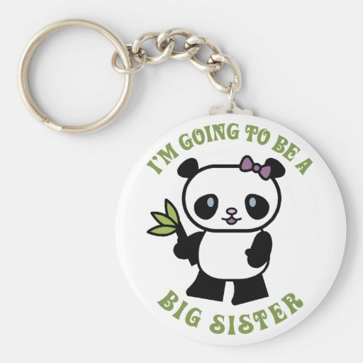 I'm Going To Be A Big Sister Keychain