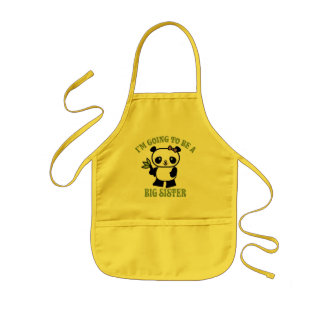 I'm Going To Be A Big Sister Kids Apron