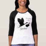 I'm Going to be a Grandma Black Stork T-shirt
