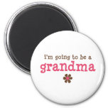 I'm going to be a grandma T-shirt 6 Cm Round Magnet