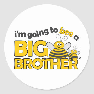 I'm Going to BEE a Big Brother T-shirt Round Stickers