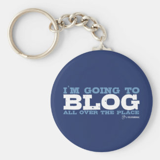 I'm going to blog all over the place (LiveJournal) Basic Round Button Key Ring