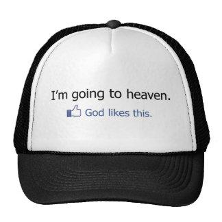 I'm going to Heaven Facebook Status Cap