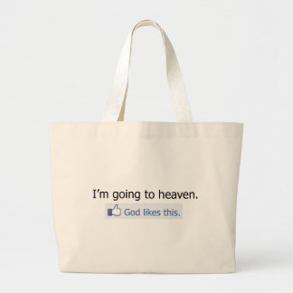 I'm going to heaven canvas bag