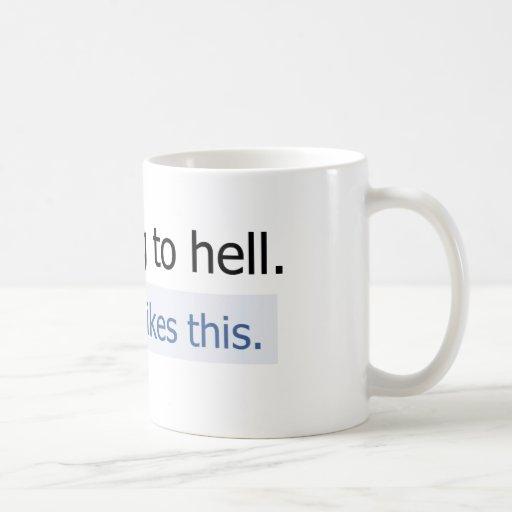 I'm going to hell basic white mug