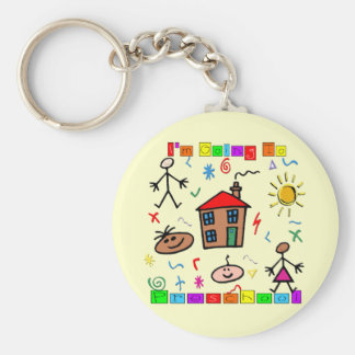 I'm Going to Preschool Basic Round Button Key Ring