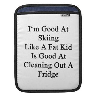 I'm Good At Skiing Like A Fat Kid Is Good At Cle iPad Sleeve