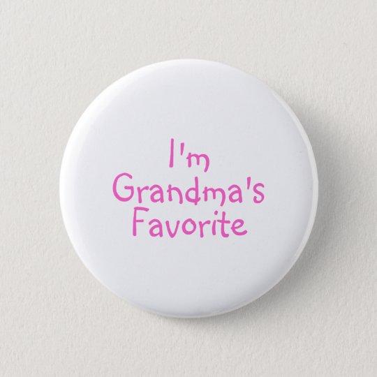 Im Grandmas Favourite Pink 6 Cm Round Badge