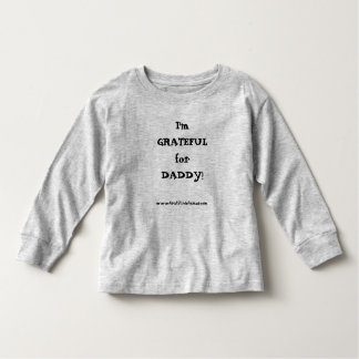 I'm GRATEFUL for DADDY! Girl's long-sleeved T Tee Shirts