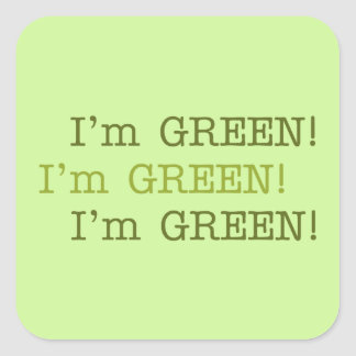 I'm GREEN Earth Day Stickers