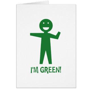 I'm Green Greeting Card