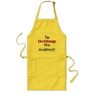 I'm Grilling The Auditors! Auditing Pun Joke Long Apron