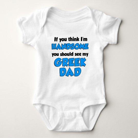 I'm Handsome Greek Dad Baby Bodysuit
