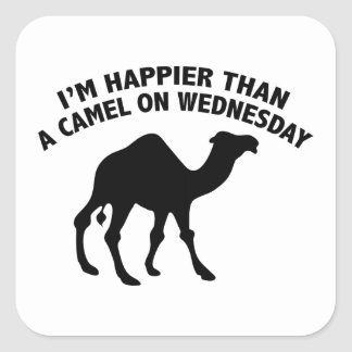I'm Happier Than A Camel On Wednesday Stickers