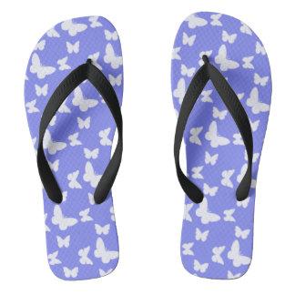 I'm Happy! blue butterfly Flip Flops
