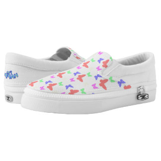 I'm Happy! butterfly Slip Ons shoes Printed Shoes
