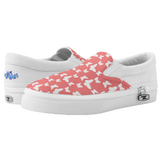 I'm Happy! red butterfly Slip Ons shoes Printed Shoes