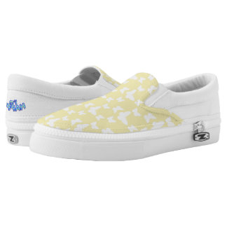 I'm Happy! yellow butterfly Slip Ons shoes