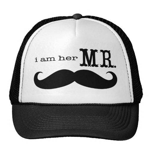 I'm Her Mr. Mustache Grooms Gifts Trucker Hats