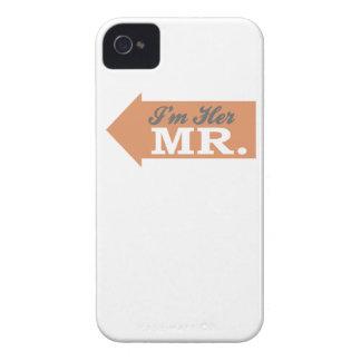 I'm Her Mr. (Orange Arrow) iPhone 4 Cases