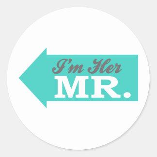 I'm Her Mr. (Teal Arrow) Sticker