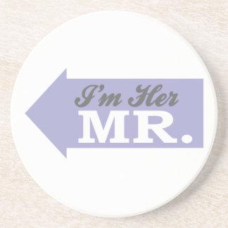 I'm Her Mr. (Violet Arrow) Sandstone Coaster