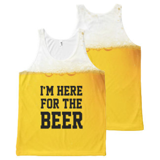 I'm Here for the Beer Funny Slogan All-Over Print Tank Top